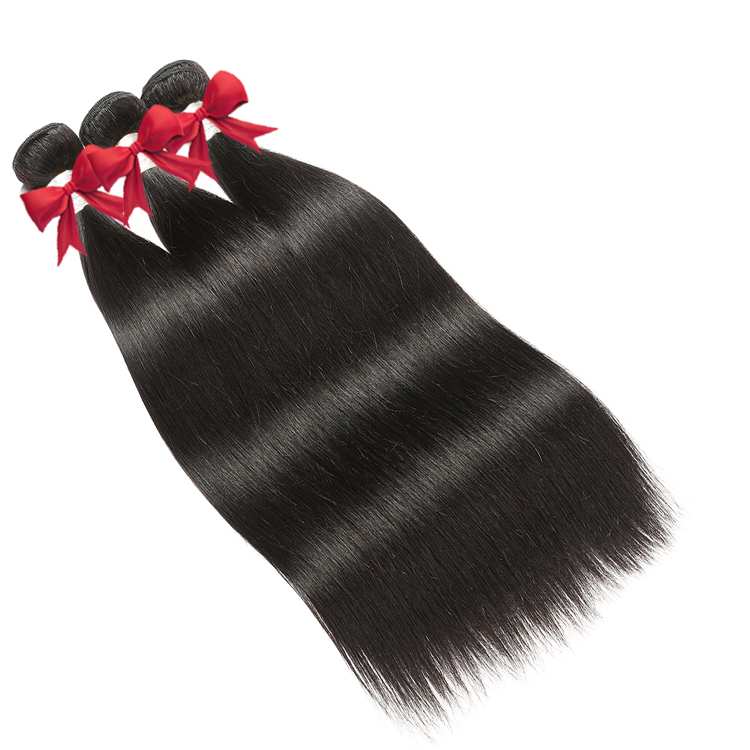 Wholesale hair bundles silky straight with frontal closure 100% Human Hair Tangle Free Virgin Brazilian Hair For Ladies