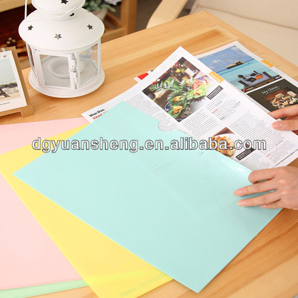 Wholesale Cheap fancy plastic resume clear book file folder with flap