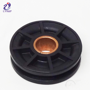 Sliding door track nylon plastic pulley price