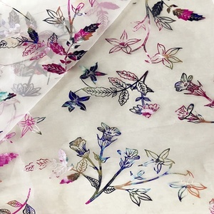 Printed Sweet Flower Dull Organza Fabric for Garment