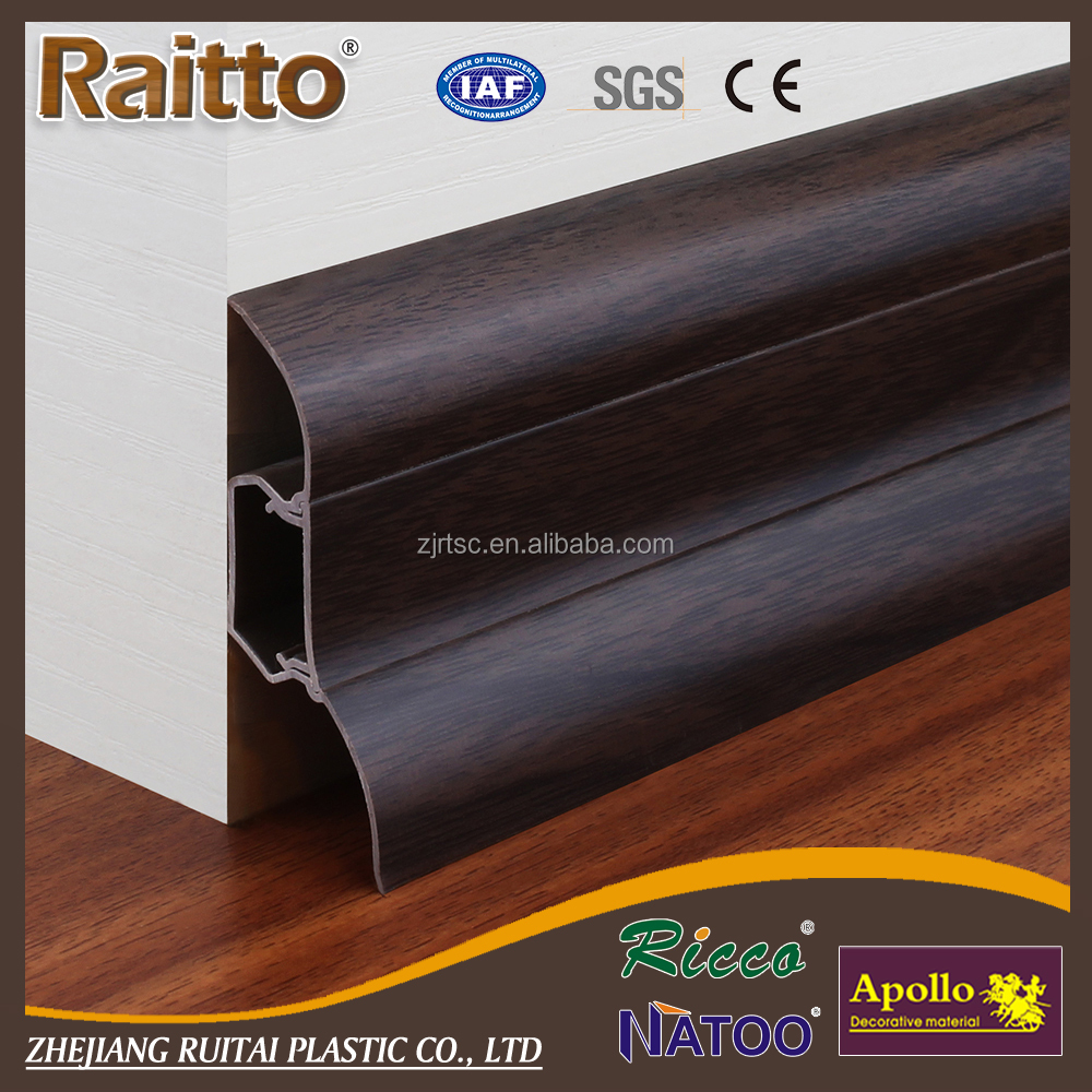 wood tiles accesory pvc skirting plastic plinth