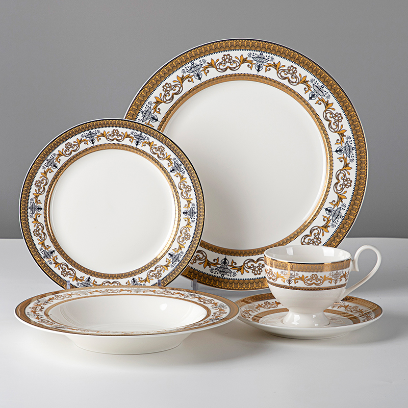 product-Two Eight-Popular Luxury Fine Bone China Dinner Set, Royal Classic Dinner Set Bone China^-im-1