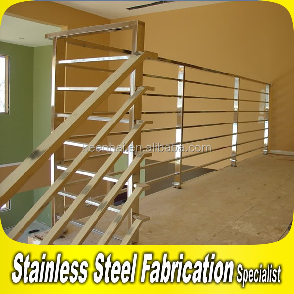 Modern 304 316 Stainless Steel Balcony Interior Stairs