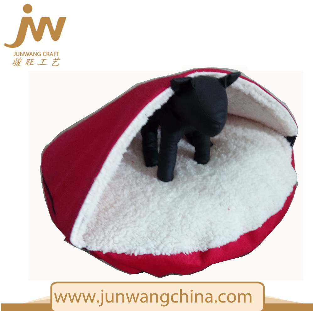 Factory Price Cute and red Plush Dog Bed, Dog Cave Bed Wholesale Dog Cat House