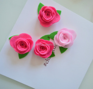 small custom design color felt fabric flower for clothing