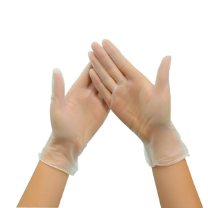 powered free disposable PVC transparent vinyl examination gloves for hospital