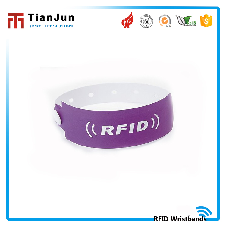 China factory Silk Printing Custom PVC tags reader Wristband RFID