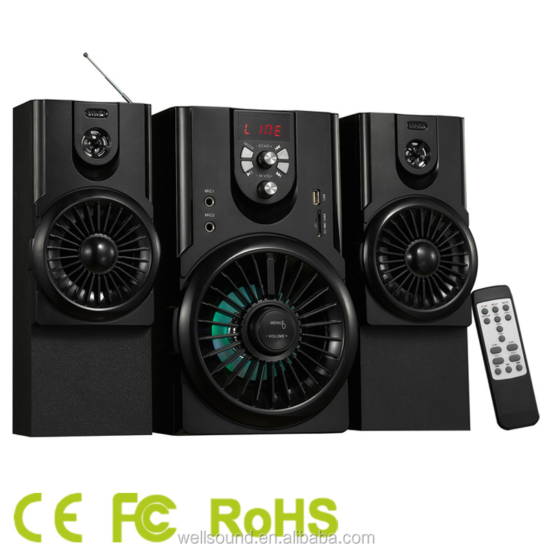 Hi-fi 2.1 ch multifunction creative subwoofer built amplifier speaker multimedia use home theather system