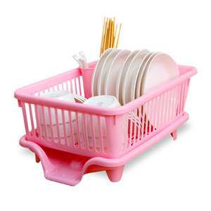 Household Plastic Kitchen Accessory Drainer Rack Stainless Steel Plastic Dish Rack