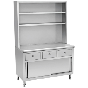 New design kitchen cabinets/Stainless Steel Bench Cabinet With Sliding Door BN-C11