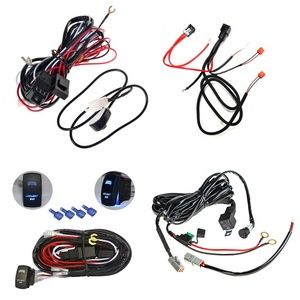 wholesale High Quality Led Light Bar Wire Harness with Relay & ON/OF Switch OEM ODM RoHS compliant