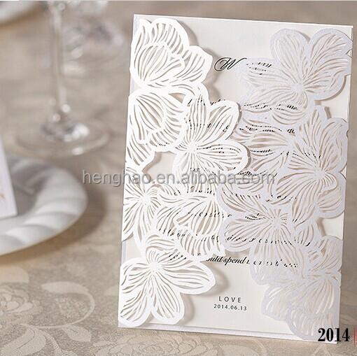 top sale d printing wedding card laser die cut wedding invitation, invitation samples