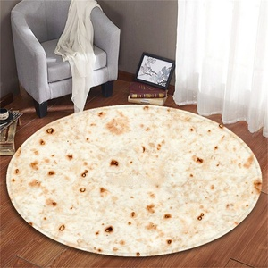 Factory custom stock flour food giantround 60 inches adult pizza burrito tortilla blanket