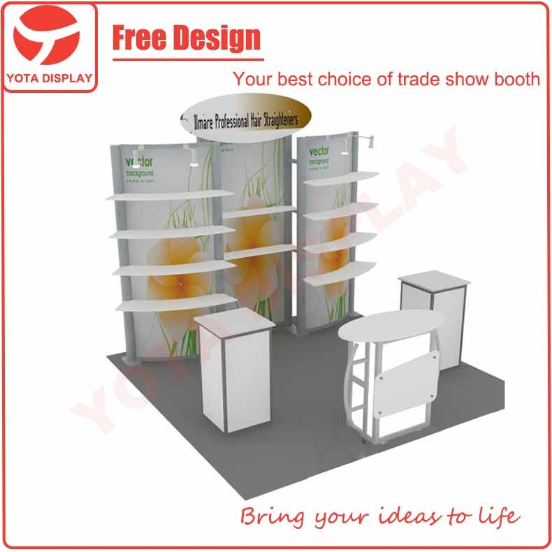 Yota offer Umare, 3x3 quick install 10x10 trade show display booth