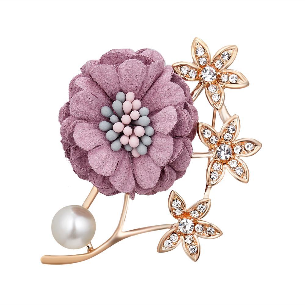 Rinhoo Jewelry Decoration Lapel Fabric Flower Brooches