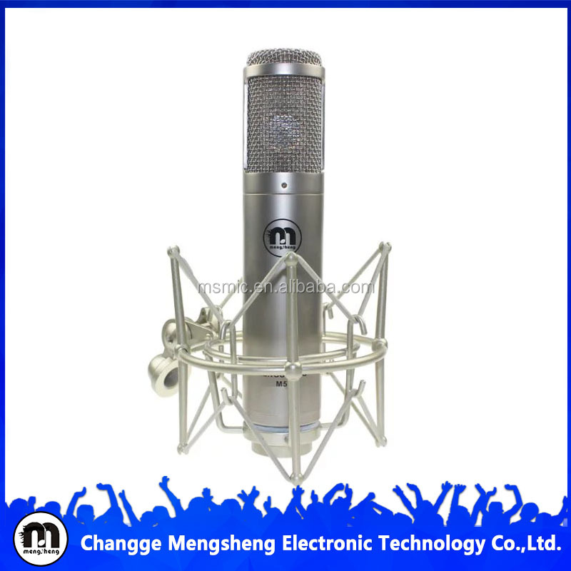 2016 New design silver studio recording capsule microphone with metal shock mount