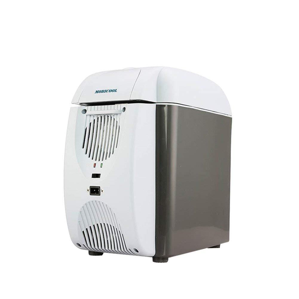 SL&BX Mini compact refrigerator,Can beverage cooler 7l car refrigerator dormitory mini fridge car refrigeration outdoor camping mobile-gray 30x32x18cm(12x13x7inch)