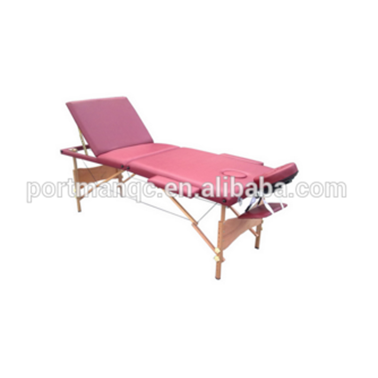 3 Section portable en bois réglable table de massage