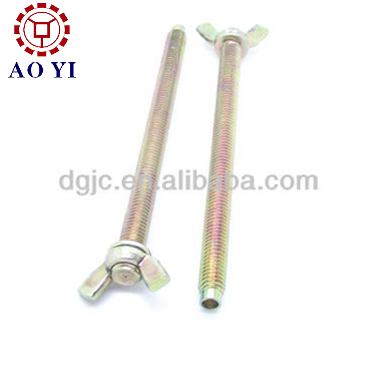 Plastic screw type butterfly valve screws / wing nuts bolt screw