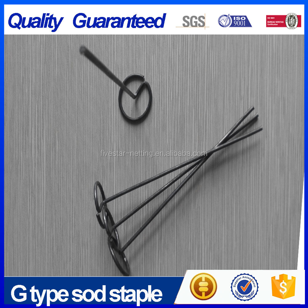 Factory direct price G type sod nail/ grass pin exporter