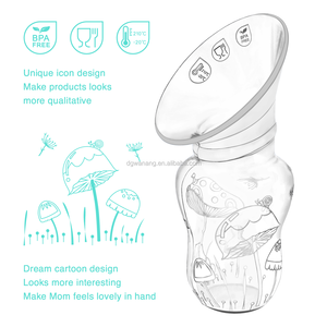 2018 Real Bubee Breast Pump With Lid 100% Food Grade Silicone For Mom Feeding Baby Products Bottle