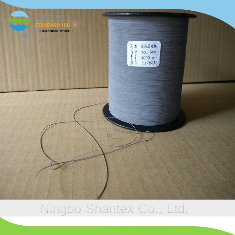 Soft Higlight Double-sided Polyester Reflective Yarn Thread for sewing and knitting