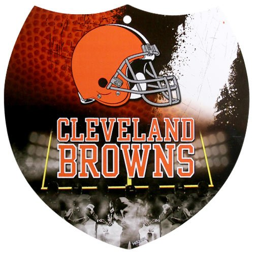 Cleveland Browns 8'' x 8'' Plastic Shield Sign