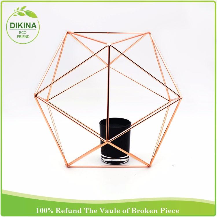 Dikina Large Metal Brass Candler Holder Tea Light Gold Wedding