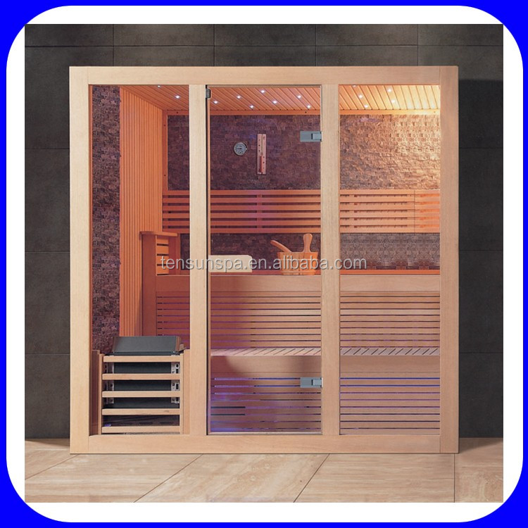 Luxury 2-6 person wooden culture dry steam sauna room