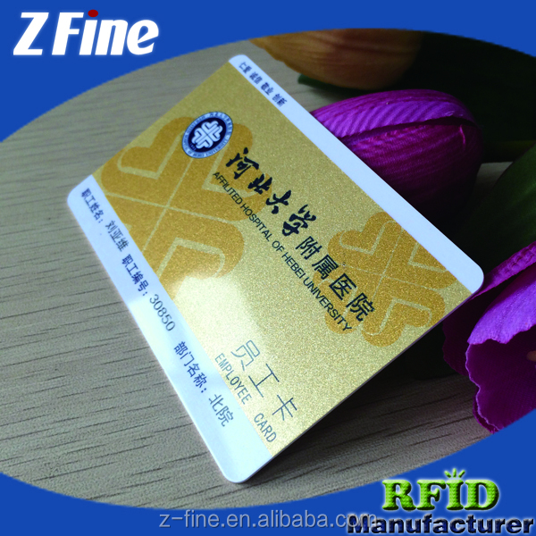 Gold background customized environmental nontoxic magnetic card