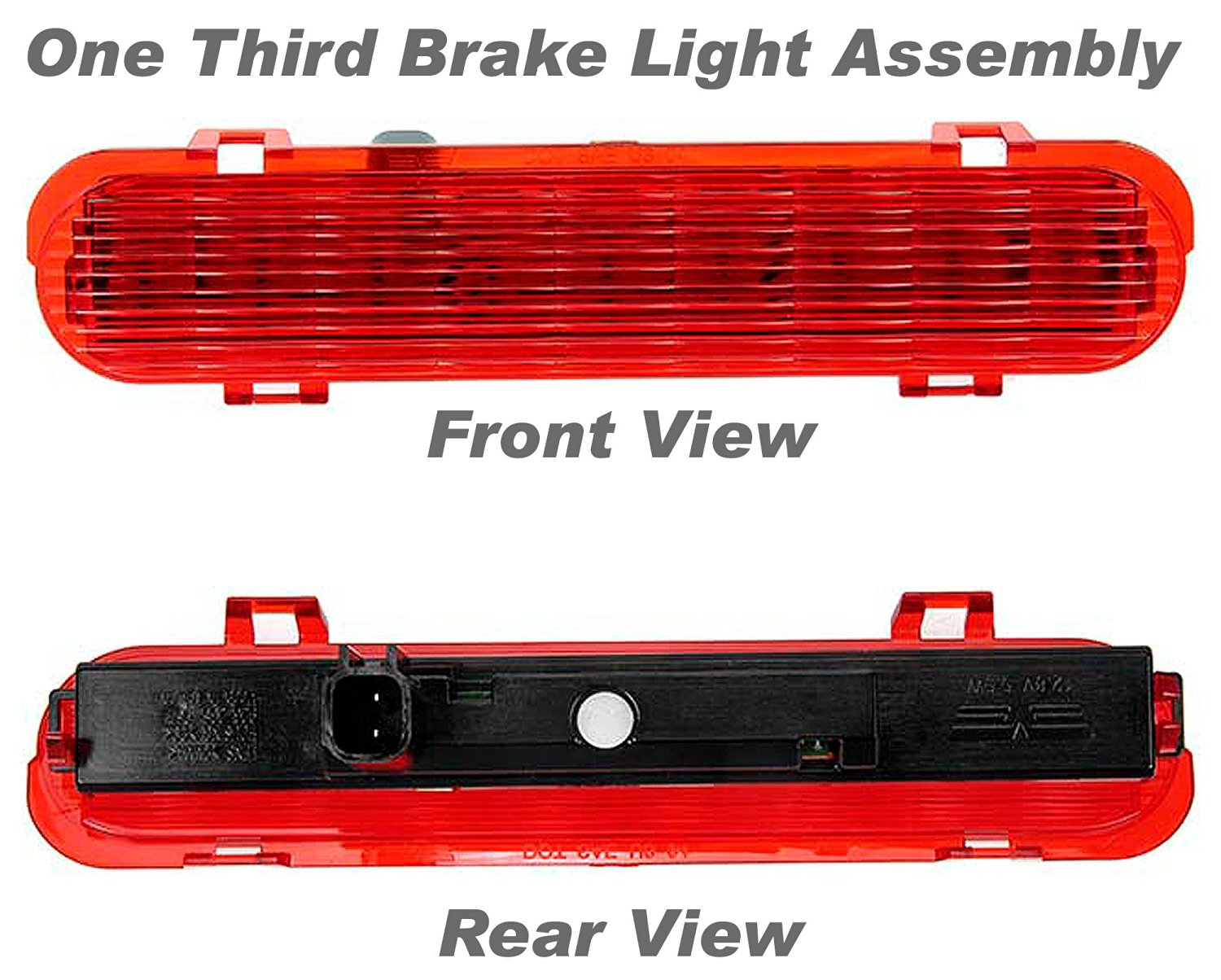 APDTY 034346 Third Brake Light/Lamp(Fits 2004-2007 Ford Freestar, and 2004-2007 Mercury Monterey)LED Bulb Technology,Direct Replacement for a Proper Fit Every Time,Replaces Factory OEM Part Number(s)- 6F2Z13A613AA, 6F2Z-13A613-AA