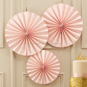 color backdrop pastel pink fan party decorations backdrop hanging paper fans