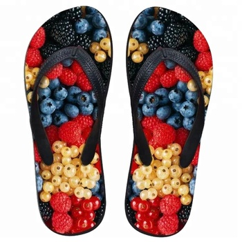 ff2ade38c9f8 EVERTOP 2019 personalized fruit printing slippers men EVA outdoor flip flop  sandal summer beach toe thong
