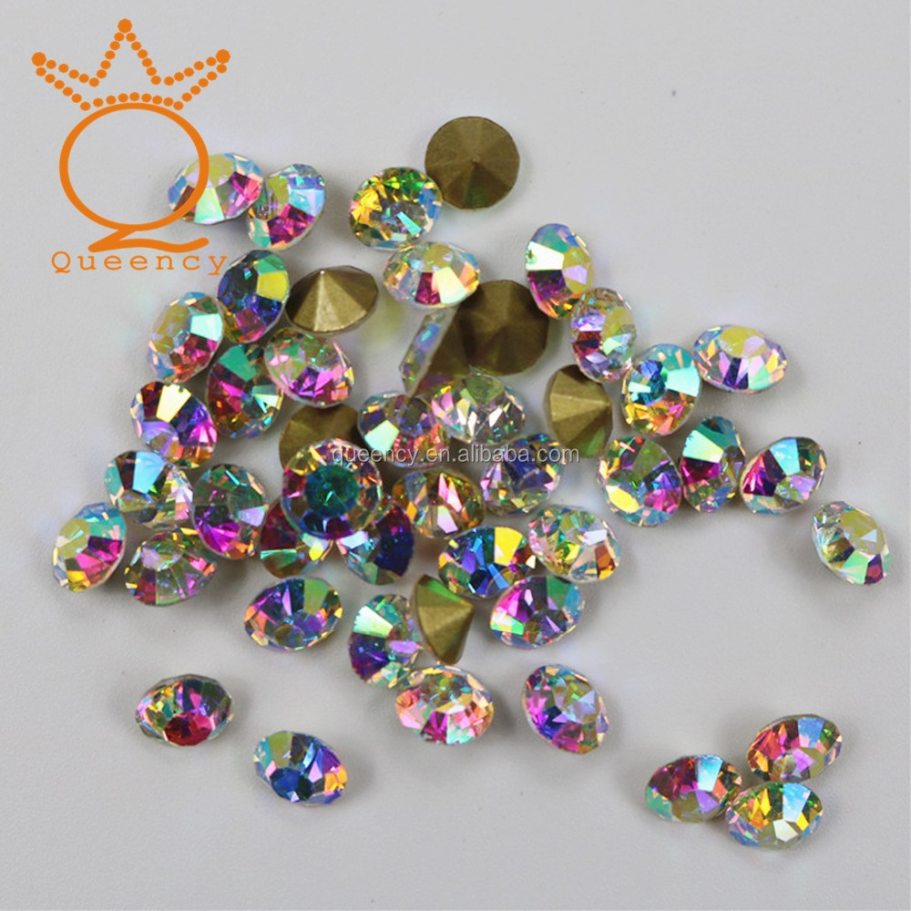 Pointback shining crystal rhinestone, crystal mc chaton