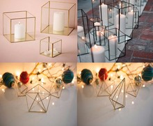 @~@ Hurricane Geometric Lighting / Glass Dodecahedron Terrarium vase / cheap wire frame waterproof india brass outdoor lantern