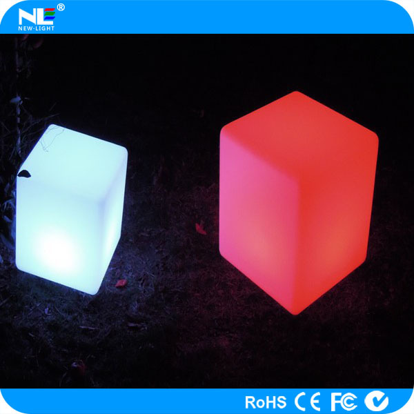 Neon Glowing LED Cube Chair Light / Outdoor LED Chairs And Tables For Bars  / Led