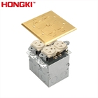 Factory Hot Sale Flush mount Square Floor Box with Tamper Resistant Duplex Receptacle