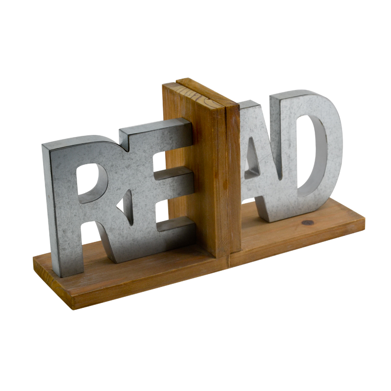 Letter Design Wooden bookends decorative book end / book stand