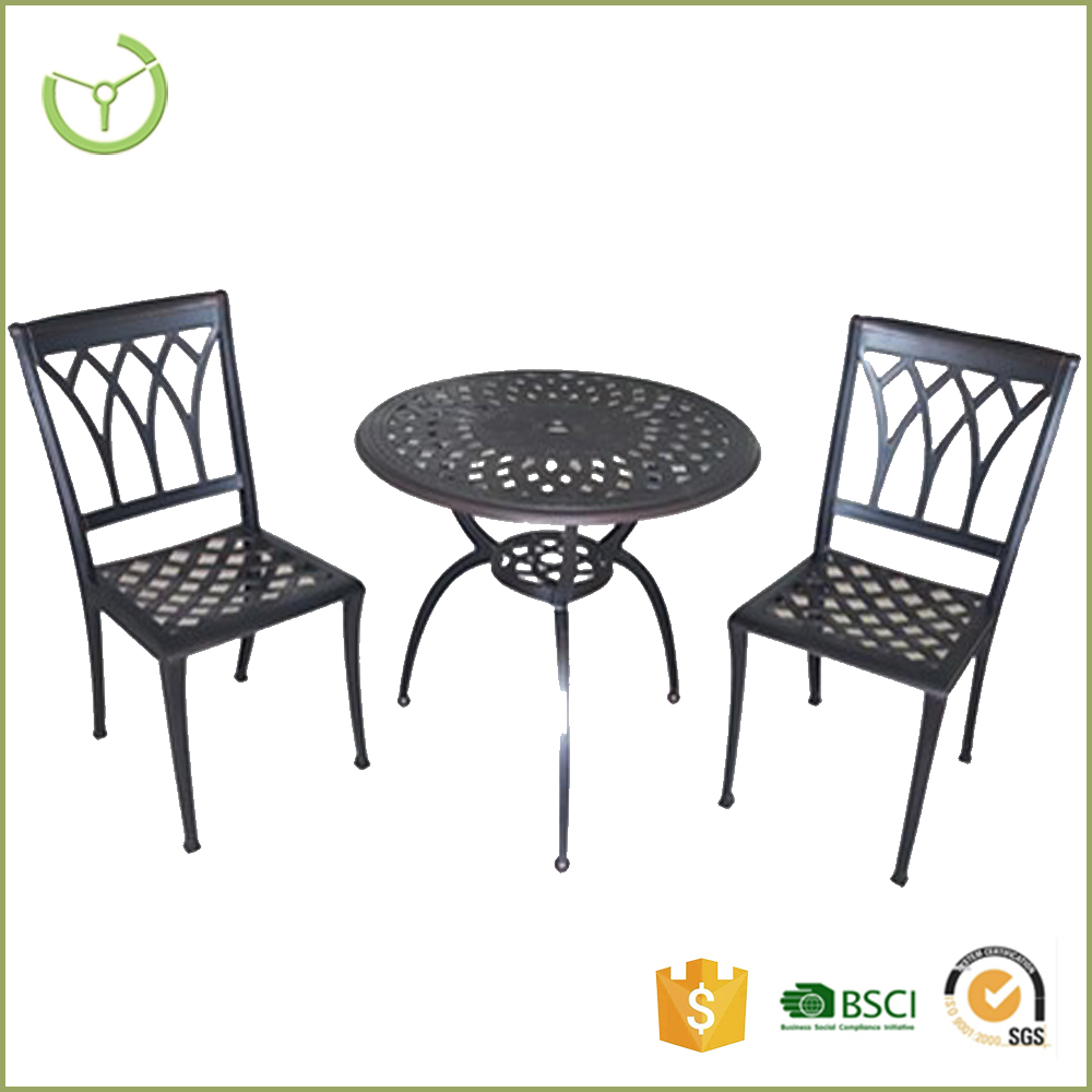 METAL FRENCH COUNTRY STYLE cast aluminium patio furniture dinig table and chair set modern disign