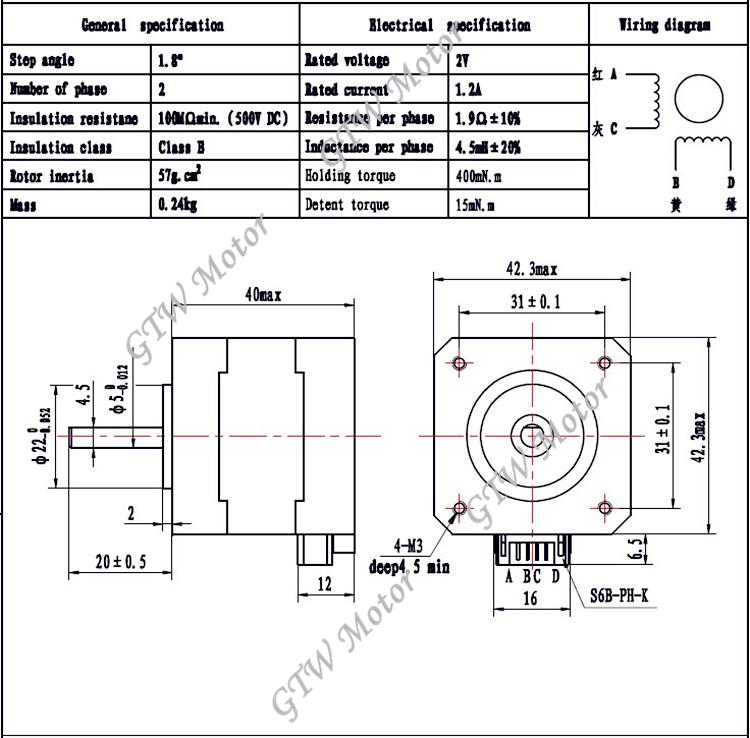 hot sale  nema 17 stepper motor for 3d printer  hybird