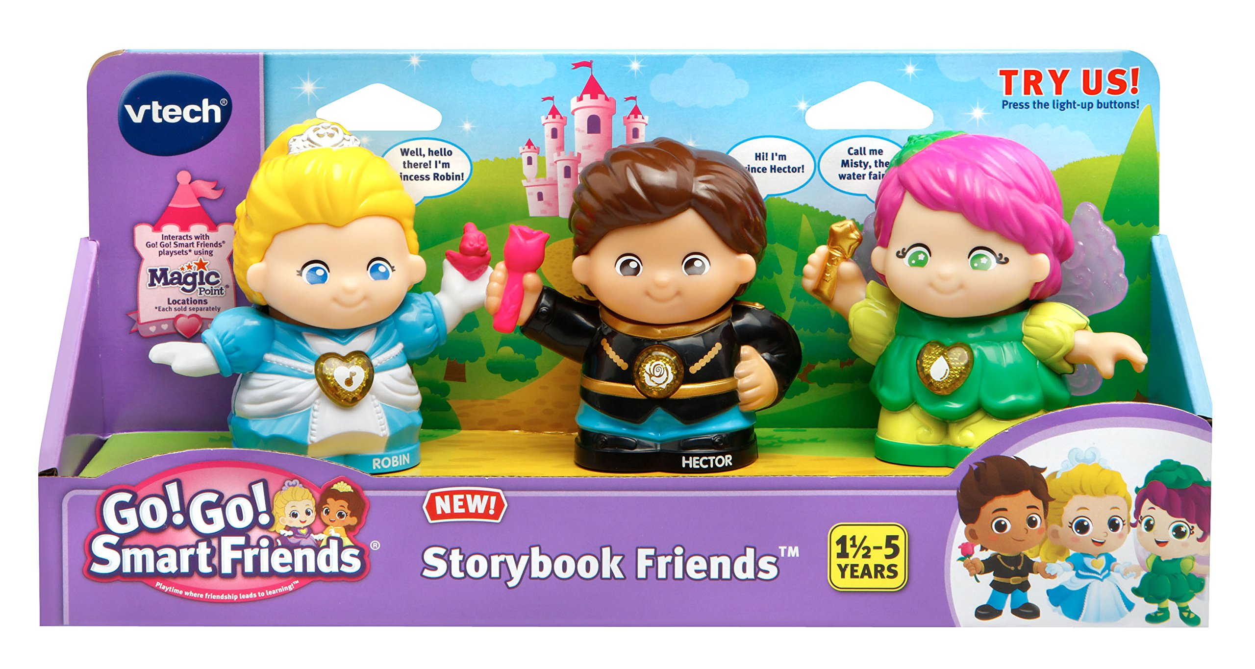 bdf7c22fbde16a Go! Smart Friends Storybook Friends - Prince Hector, Princess Robin and  Fairy Misty (3 Pack)