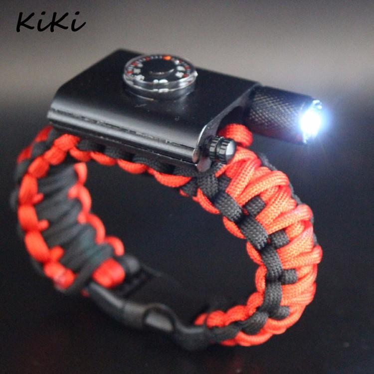 Paracord Survival Bracelet Hiking /& Camping Buckle Parachute Rope Men Wristbands
