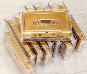 Rose-Gold Cassette tape, Audio Blank Cassette Tape for Decoration and Recording,Customized Service