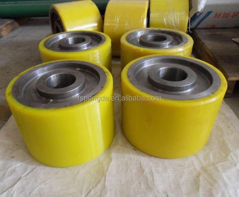 pu rubber wheels/rollers for pallet truck 2-5tons