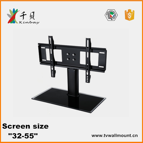 "Universale 32 ""a 55"" metal lcd led tv stand da tavolo in vetro mount/nuovo design in metallo tv stand"