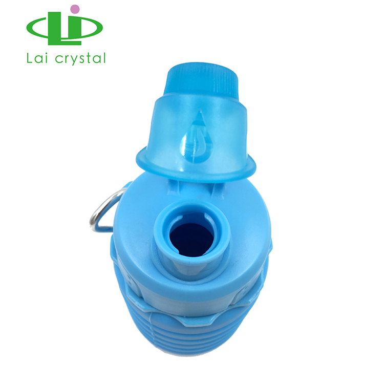 Hohe faltende umweltfreundliche bunte Silikon-faltende Reise-Wasser-Flasche