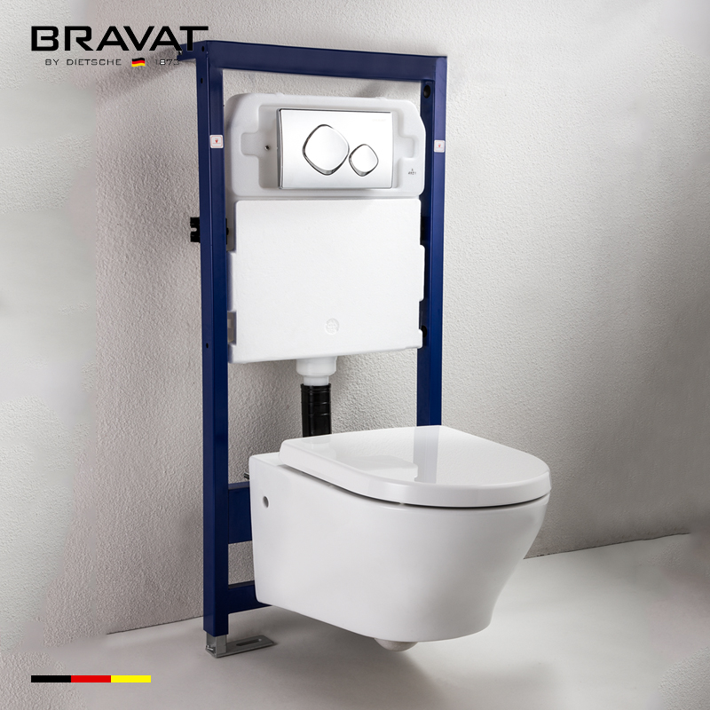 A Compact Elongated Design Concealed Cistern In Wall Toilet System C2728w