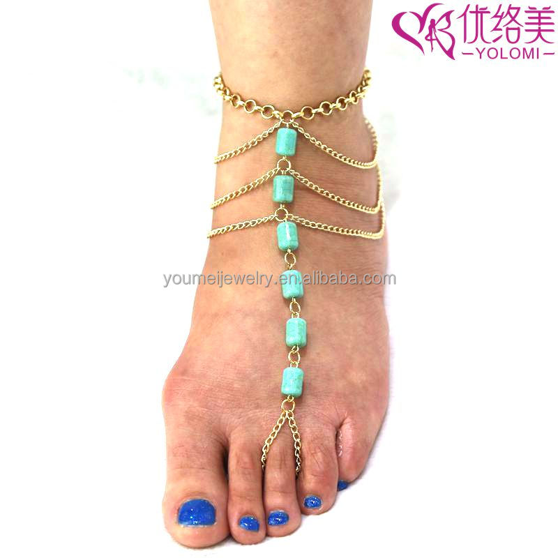 3b804282141c5c Barefoot Sandals Foot Jewelry Indian Foot Chain Anklet Chain With Toe Ring  Jewelry Barefoot Beach Jewelry FC-60643