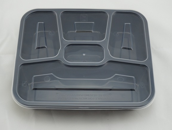 5 Compartment Microwave Plastic Disposable Food Container