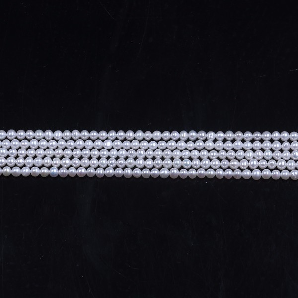 Wholesale 3-3.5mm REAL Natural Freshwater Pearl Necklace String White Round Shape Pearls